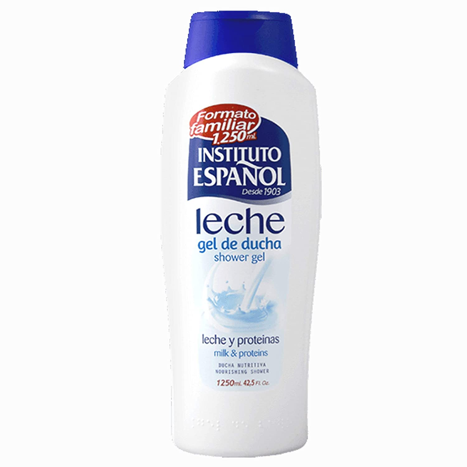 Instituto Español - Leche Y Proteinas - Gel De Ducha, 1250 ml: Amazon.es: Belleza