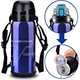 Stainless Steel Water Bottle Vacuum Insulated Double Wall Heat Cold Retention Gym Outdoor Sports Hiking Cycling Camping Climbing Travel Mugs BPA-Free Flask-27oz/800ml