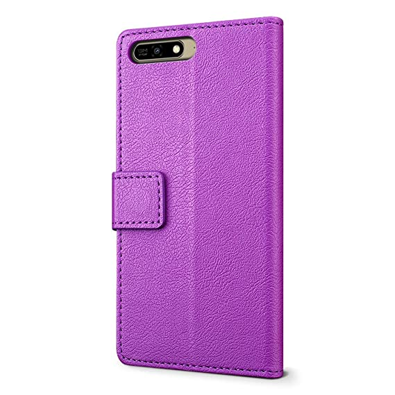 Amazon.com: Huawei Y6 2018 Case - SLEO Luxury Slim PU ...