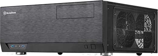 SilverStone Technology Home Theater Computer Case (HTPC) with Faux Aluminum Design for ATX/ Micro-ATX Motherboards (SST-GD09B-USA)