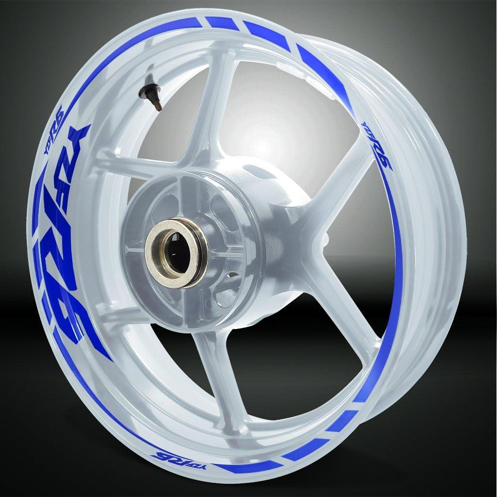 Blanc Brillant Jante de moto d/écalcomanies autocollant accessoire pour Yamaha YZF R6