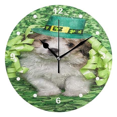 Reloj para niños con diseño de cachorro de trébol irlandés ...