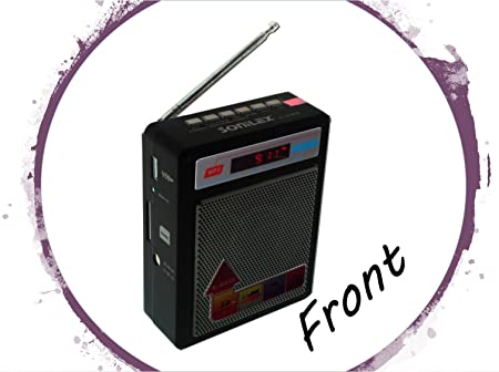 Selling Uniqness Sonilex Portable FM Radio with LED Display, USB Pen Drive, SD Player (Black) MP3 Player Speaker & Radio Docks at amazon