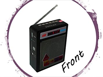 Selling Uniqness Sonilex Portable FM Radio with LED Display, USB Pen Drive, SD Player (Black) MP3 Player Speaker & Radio Docks at amazon