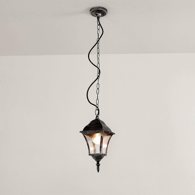 /Él/égant Lampe Suspension plafonnier en Argent Vieilli la Cour Lampe dext/érieur Lampe de Jardin 8399/IP43