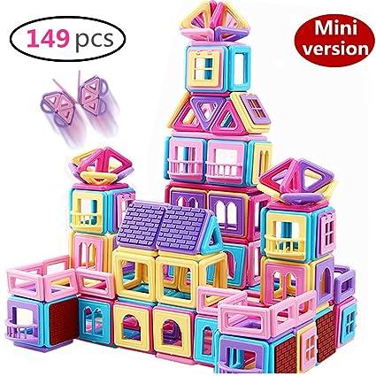 Amazon.com: RITONS 149 bloques magnéticos de castillo ...