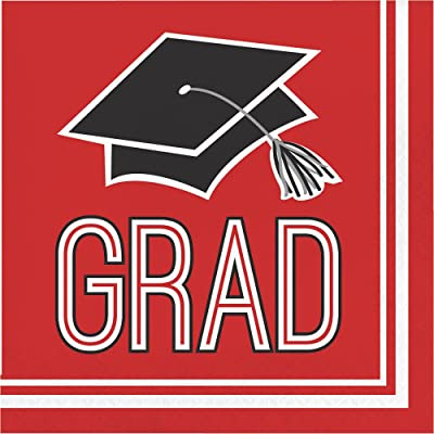 Creative Converting Congrats Grad Red Luncheon Napkins (36 ct): Toys & Games