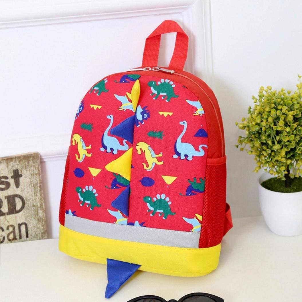 Sansee Baby Boys Girls Kids Dinosaur Pattern Animals Backpack Toddler  School Bag  (Dark Blue ) 8a7deeeaa9f40