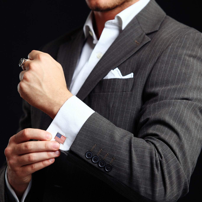 DUSHOULIAN Cufflinks for Men,Mens Fashion Cufflinks Square Black Walnut Wood Cufflinks Tie Clips for Men Business Grandfather Dad Father Shirts Tuxedo Wedding Luxurious Jewelry Gifts Gift