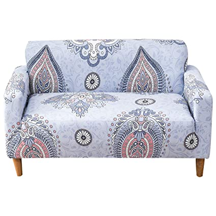FORCHEER - Funda para sofá (1 Pieza, poliéster, Elastano, Funda para sofá, Funda para sofá), poliéster y Mezcla de poliéster, Pattern# MJ, 2 Seater