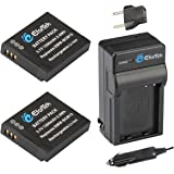 EforTek DMW-BCM13 Replacement Battery (2-Pack) and Charger kit for Panasonic DMW-BCM13, DMW-BCM13E, DMW-BCM13PP and Panasonic Lumix DMC-FT5, DMC-LZ40,DMC-TS5, DMC-TZ37, DMC-TZ40, DMC-TZ41, DMC-TZ55,DMC-TZ60,DMC-ZS27, DMC-ZS30,DMC-ZS35,DMC-ZS40