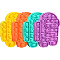 STONCH 4PCS Among in us POP Bubble Sensory Fidget Toy Special Needs Stress Reliever,Squeeze Sensory Toy