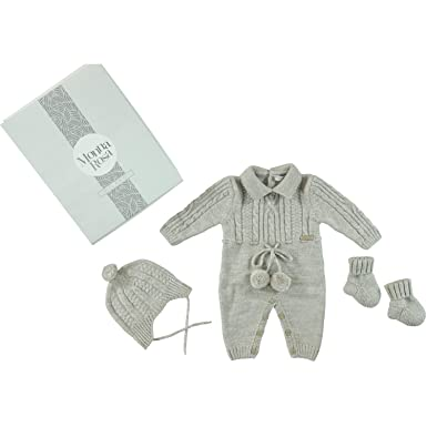 9df355a2c69c Amazon.com  MonnaRosa Knit Overalls Newborn Baby Toddler Boys Girls Knitted  Clothes Long Sleeve Romper Winter Clothes  Clothing