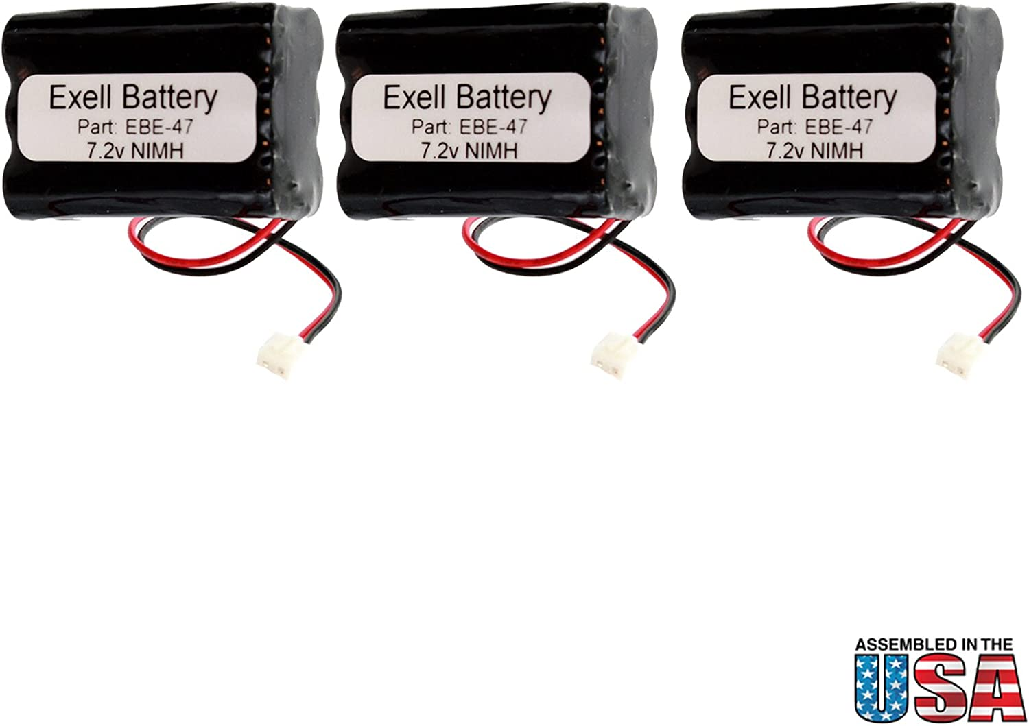 (3-Pack) Emergency/Exit Lighting Battery Fits and Replaces Interstate ANIC0191, Iti 34-051, Sanyo 34051, Sanyo 6HRAAAU, Sanyo 6HRAAAU34051 Fast USA Ship