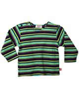 Zutano Baby Girls' Midnight Stripe Long Sleeve T Shirt