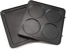 UsKitchen Pancake Plates for Cuisinart Belgian Waffle Maker With Pancake Plates (WAF-300)