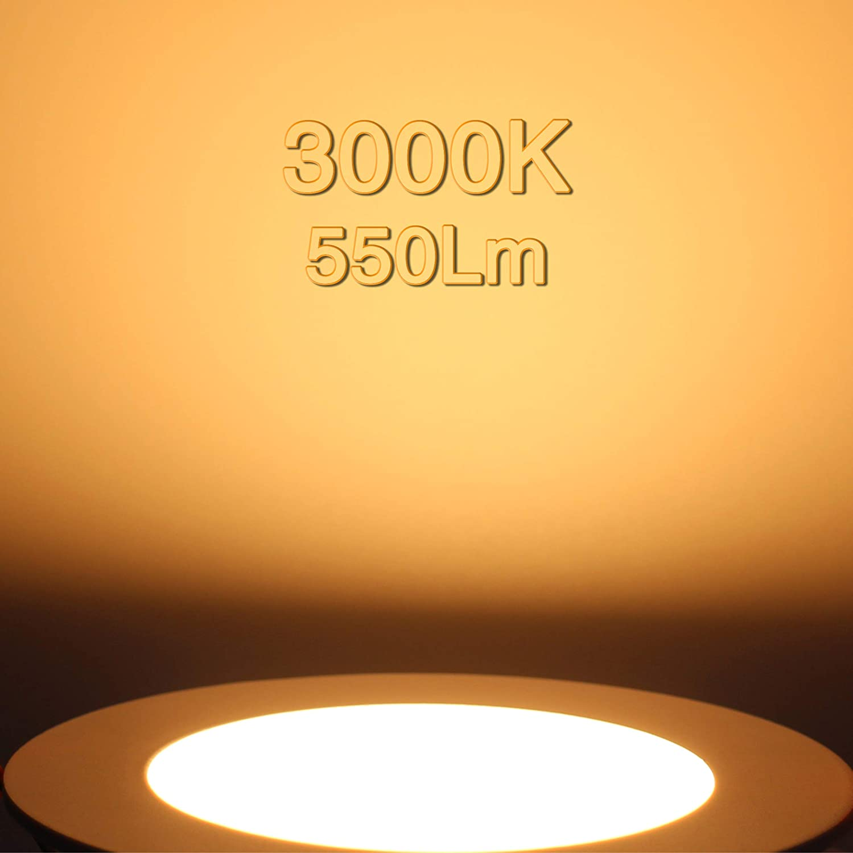 "12W 3000K Slim 120V  Oil Rubbed Bronze Finish 6"" Surface Mount LED Fixture"