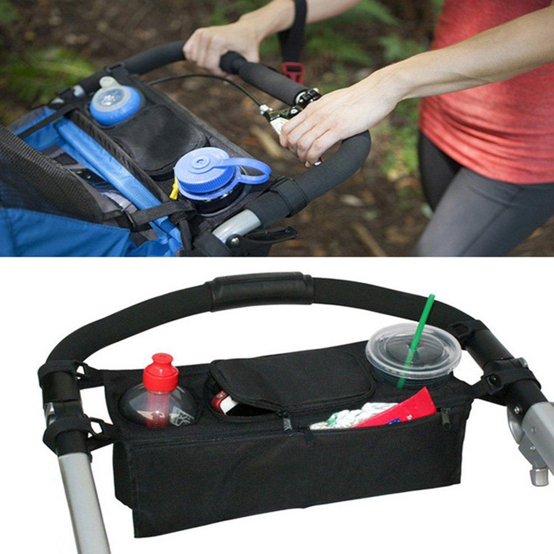 Qianle Baby Stroller Storage Organizer Diper Bag Cup Holder Stroller Accessories