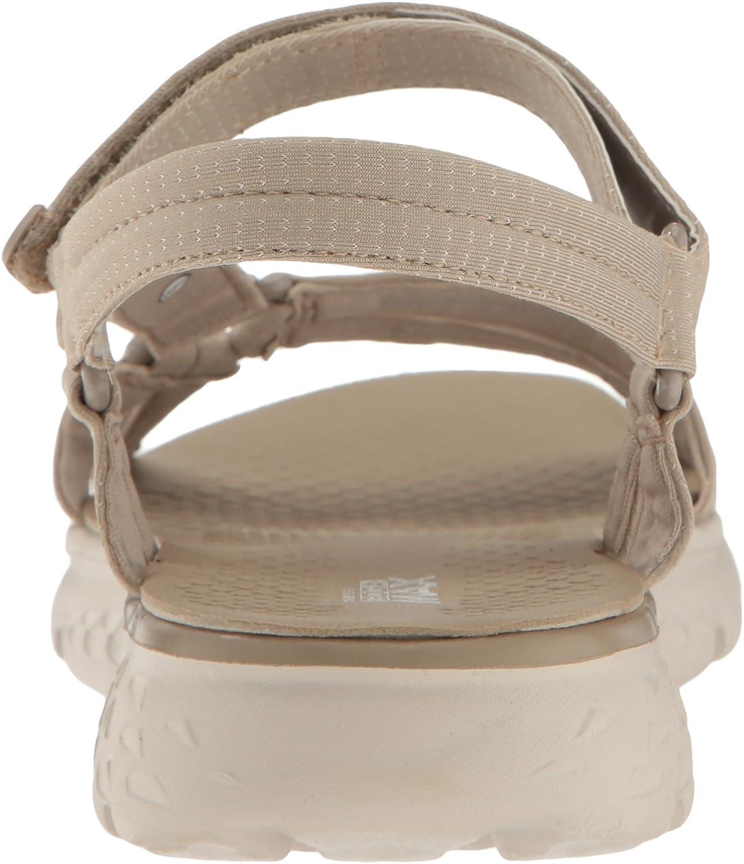 Skechers On-The-Go 400-Radiance, Heels Sandals Donna Beige Nat