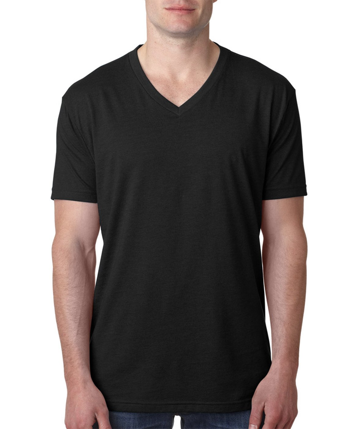 Next Level 6240 Premium CVC V-Neck Tee Black X-Large