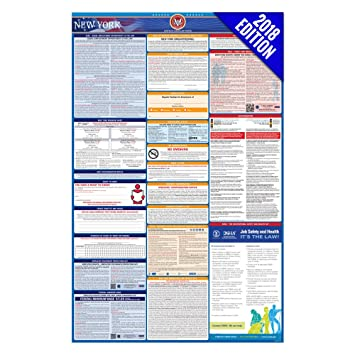 Amazon 2017 new york labor law poster state federal 2017 new york labor law poster state federal compliant laminated sciox Images