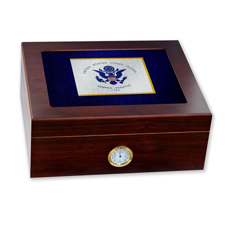 お見舞い プレミアムデスクトップHumidor – ガラストップ B06W54BLW8 – 米国沿岸警備隊 ガラストップ、標準(国旗) – B06W54BLW8, Back to MONO:e23abaa6 --- beutycity.com