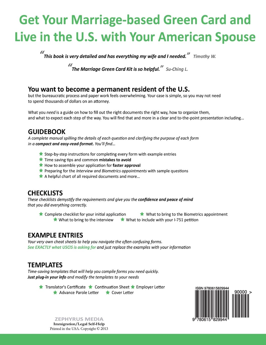 The Complete Marriage Green Card Kit: A Step-By-Step Guide With ...