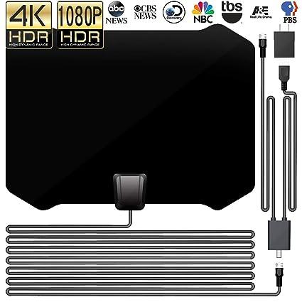 DeveSouth 60-80+Miles Ultra Indoor TV Antenna Amplifier High Reception  Amplified HDTV Antenna TV Signals Digital TV Antenna for 4K VHF UHF 1080P