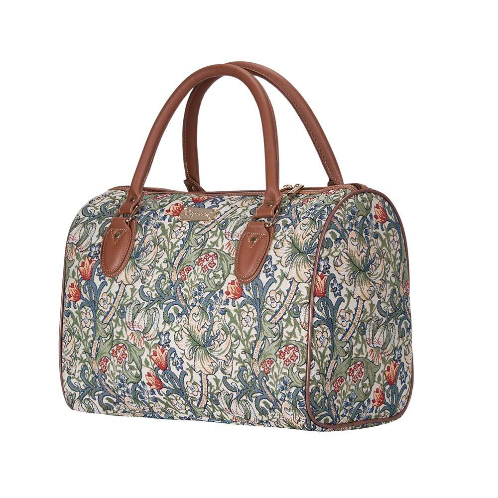bd4231065ec1 Signare Tapestry Stylish Travel Weekend Overnight Bag Hand Luggage Carry On  in William Morris Golden Lily (TRAV-GLILY)