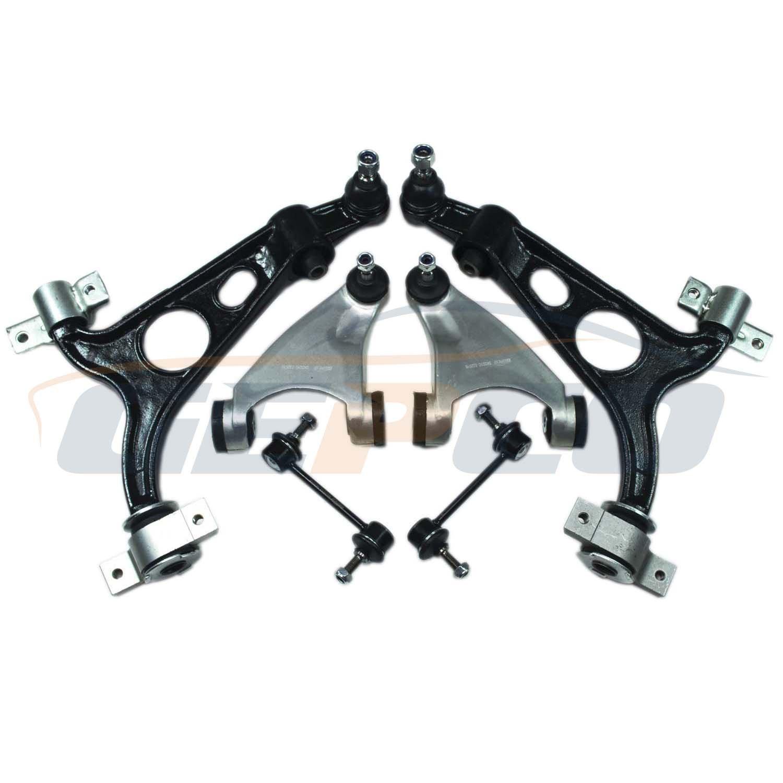 Kit con braccio oscillante e barra stabilizzatrice dell'asse anteriore per Alfa, set di 6 pezzi, anteriore GEPCO Advanced Technology