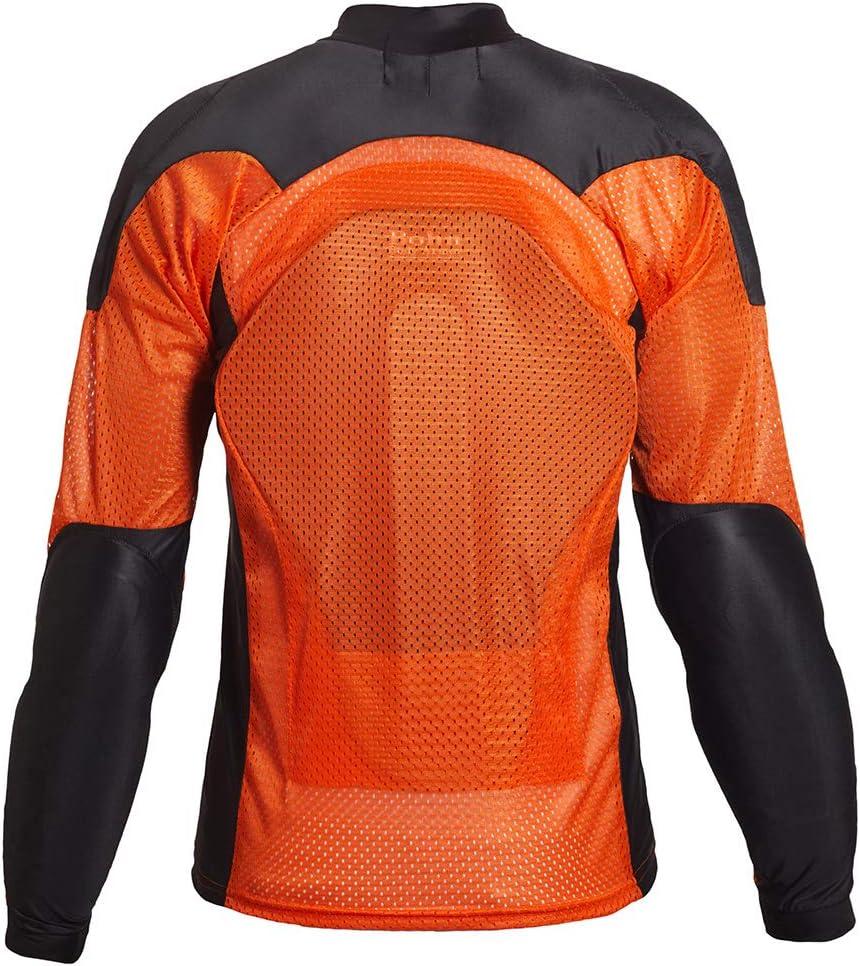 X-Small Orange//Black Bohn All-Season Airtex Armored Riding Shirt