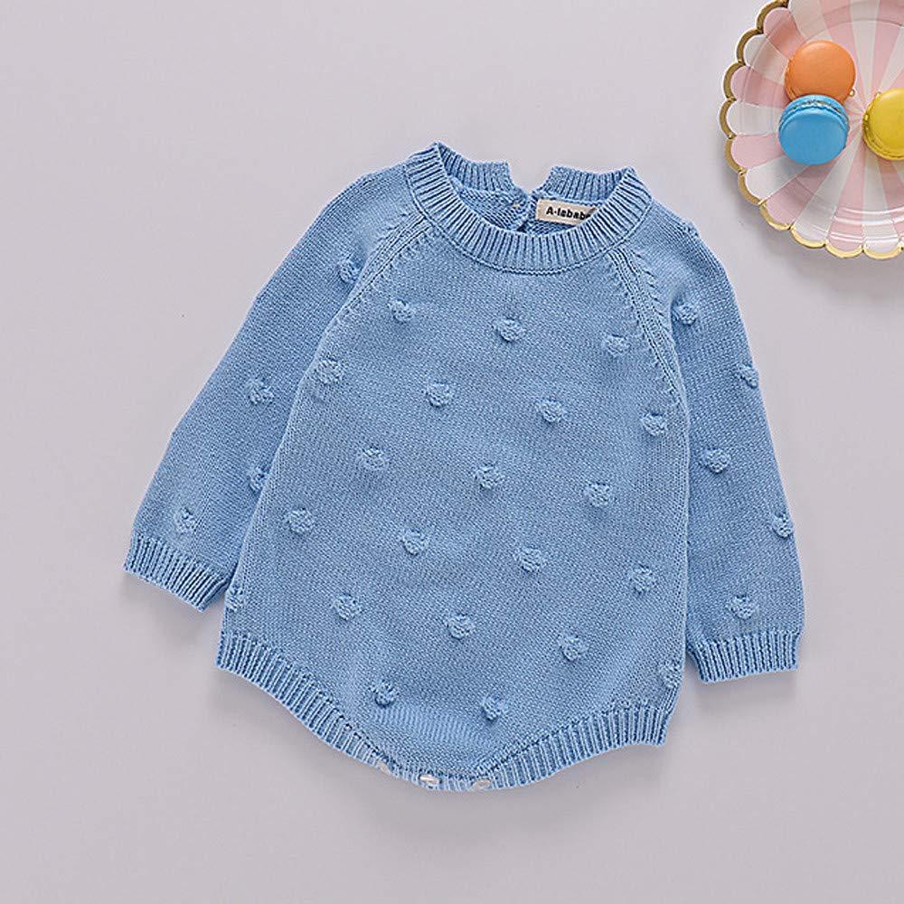 Chandal Niña Bebes Recien Nacidos Bebé Recién Nacido Baby Boy Girl Knit Romper Body Crochet Ropa Trajes: Amazon.es: Bebé