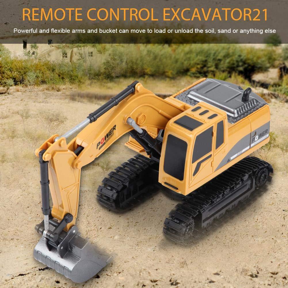 2.4 GHz 6 Canales Excavadora de Control Remoto Cami/ón 1//24 Escala RC Ingenier/ía Construcci/ón de Autom/óviles Veh/ículo Juguete de Regalo para Ni/ños Dilwe Excavadora de Control Remoto