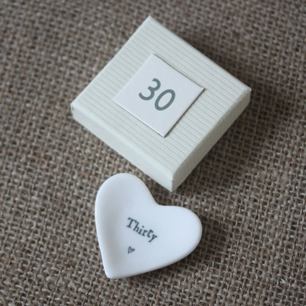 Com East Of India Mini Heart Dish Thirty 30th Birthday Gift Present In Box Home Kitchen
