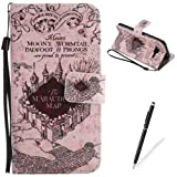 Samsung Galaxy J3/J310 Case [Free 2 in 1 Black Stylus]- Feeltech Elegant Premium Folio PU Leather Wallet Stand Function Protective Cover With Lovely Colorful Cartoon Printed Pattern Design Shell Soft Bumper Card Slots Holder Magnetic Closure Flip Book Style Cover Case With Hand Wrist Strap for Samsung Galaxy J3/J310 - Castle