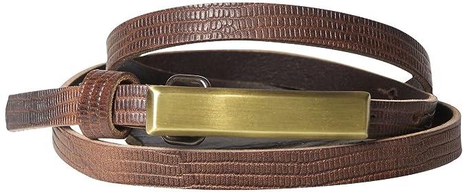 Fronhofer Fine ceinture pour femme 1,5 cm ceinture à imprimé peau de  serpent boucle d352c4a0cf6