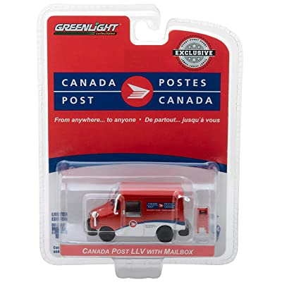 Greenlight Canada Post Long-Life Postal Delivery Vehicle with Mailbox - Hobby Exclusive 1/64 Diecast Model Car 29889: Toys & Games