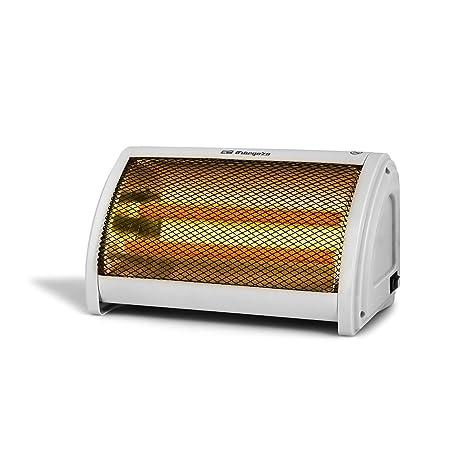 Orbegozo BP3200 Estufa de doble barra cerámica con 2 niveles de potencia 500 W y 1000 W, Color blanco