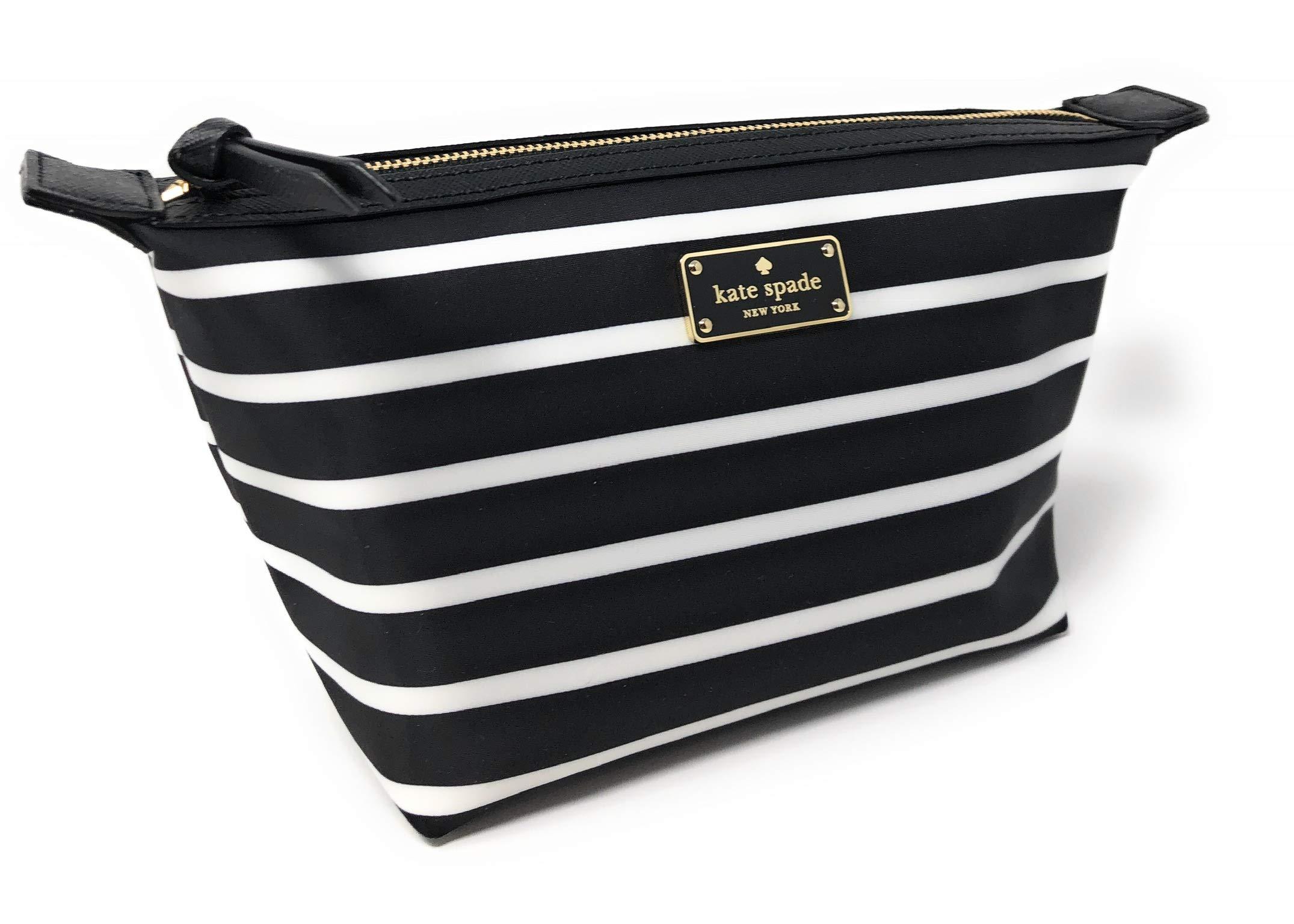 Kate Sapde New York Jodi Large Cosmetics Make-Up Clutch Bag Black