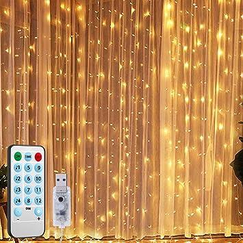 Small Usb Halloween 2020 Decorations Amazon.com: AMIR (2020 New) Window Curtain String Lights, Sound