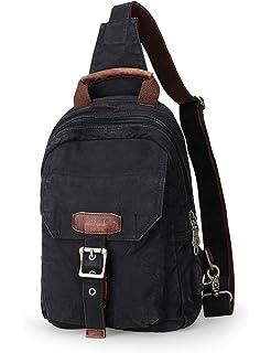 Amazon.com  DRF Canvas Sling Bag Chest Crossbody Bag Vintage Fit ... 5943916c04d3d