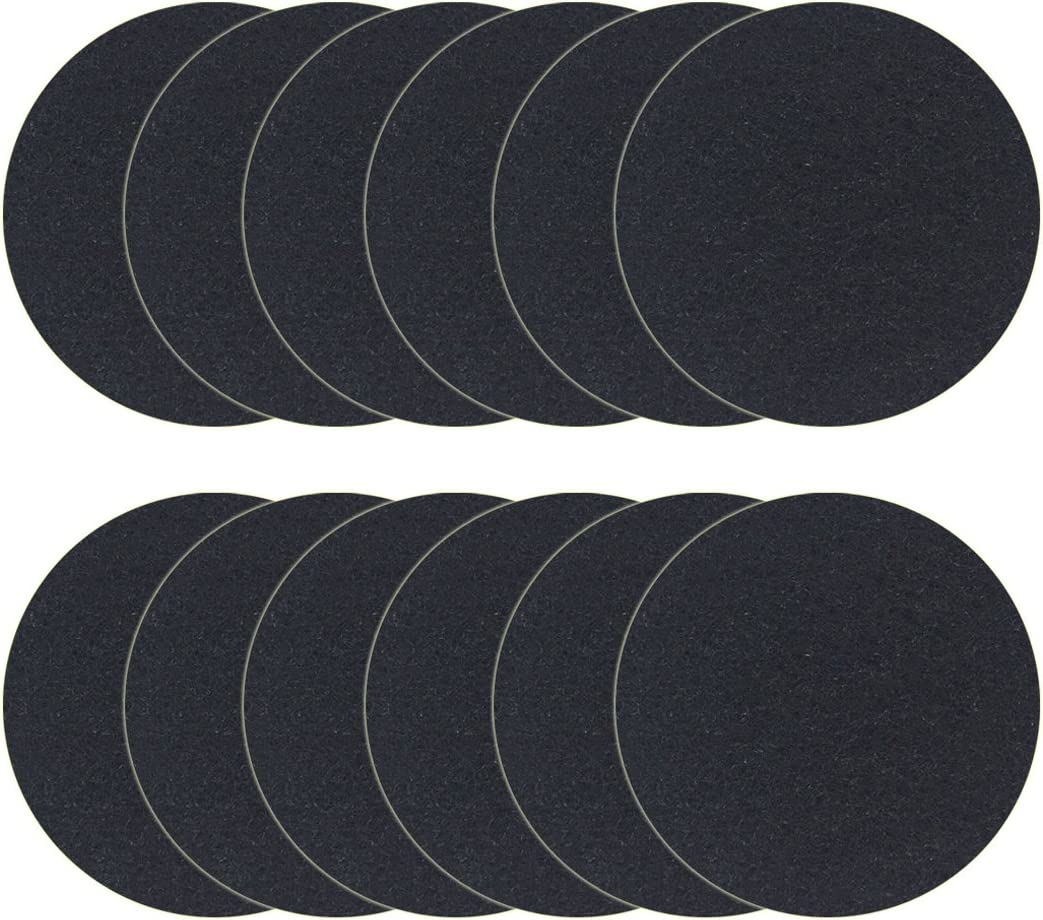 12 Pack Charcoal Filters for Kitchen Compost Bin Pail Replacement Filter Countertop Home Bucket Refill Sets, Round: Kitchen & Dining