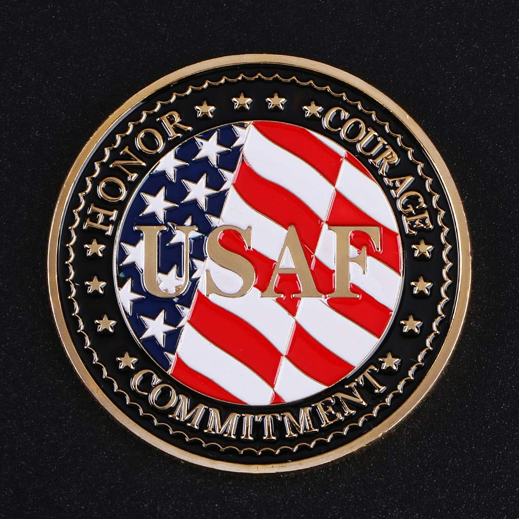 Monedas conmemorativas del Caza F-35 de la Fuerza A/érea de los Estados Unidos de Angelliu para diversiones Militares