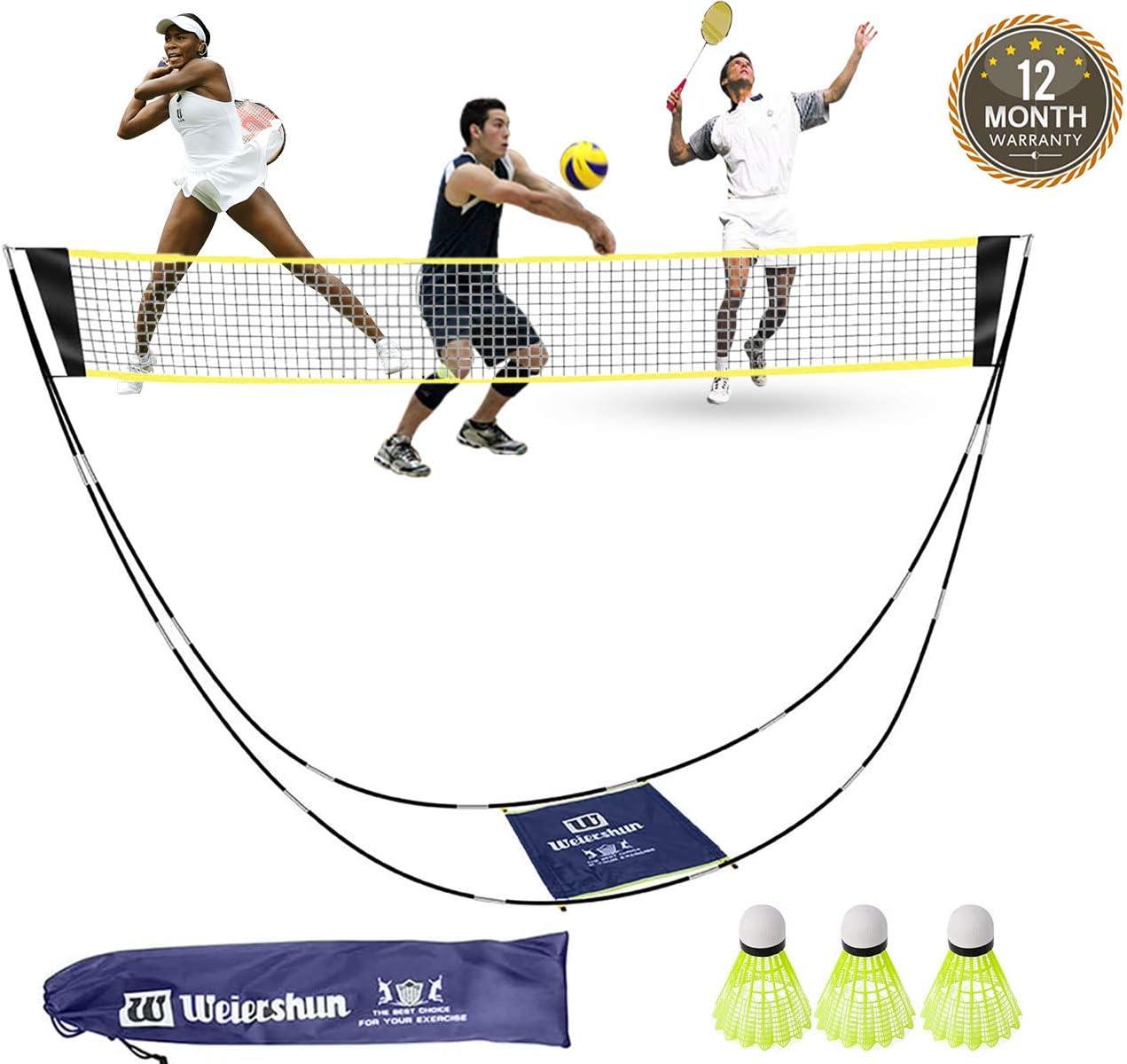 Weiershun Portable Badminton Net