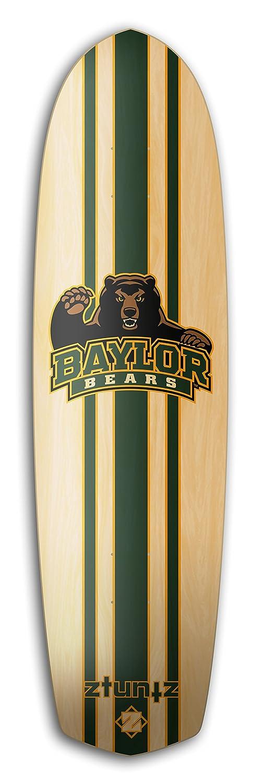 8.5 x 32 x16-Inch ztuntz skateboards Baylor University Cross Town 7-Ply Hard Rock Maple Deck Green//Gold
