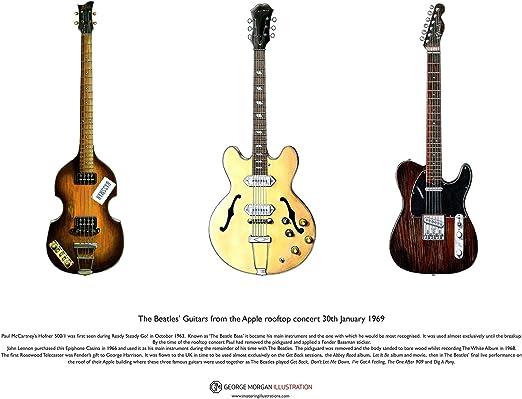 George Morgan Illustration Guitarra de los Beatles en el Apple en ...