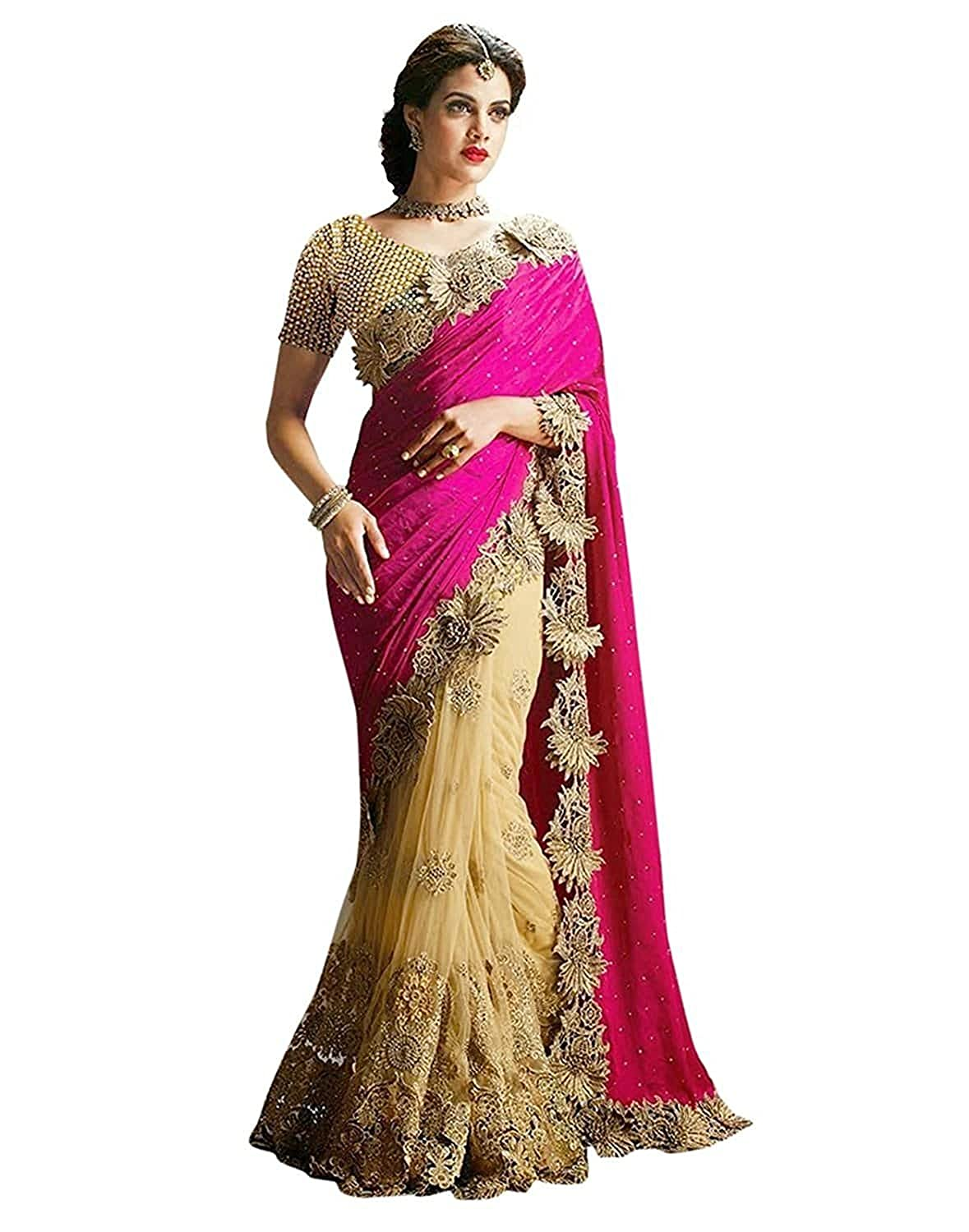 Sarees (Women's Clothing Saree For Women Latest Design Wear New Collection in Latest With Designer Blouse Free Size Beautiful Saree For Women Party Wear Offer Designer Sarees With Blouse Piece)