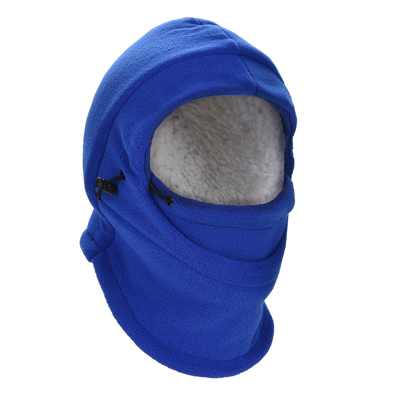HZTG Children Winter Windproof Cap Warm Balaclava Full Face Cover Mask (Blue)