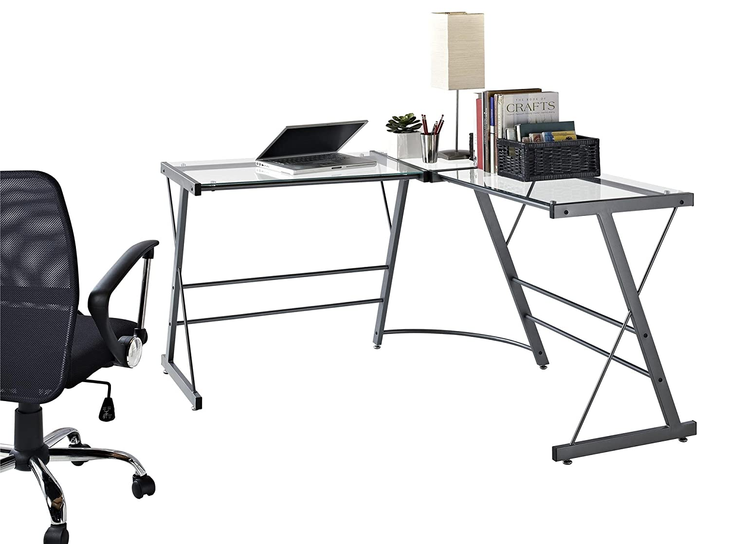 Amazon.com: Ameriwood Home Altra Furniture L-Shaped Computer Desk ...