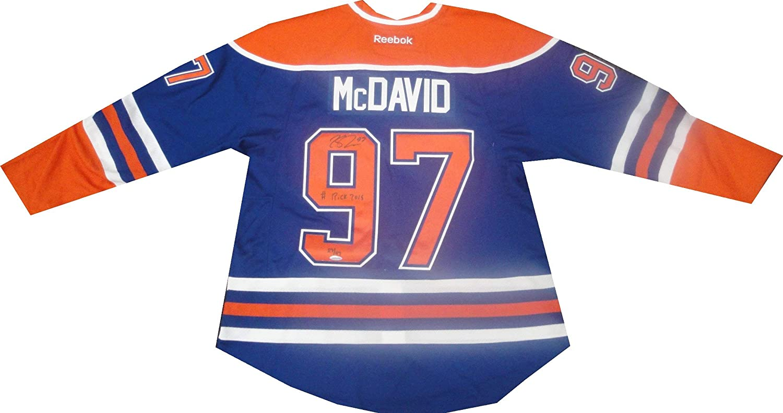 competitive price f7948 7f43d Connor McDavid Autographed Signed Blue/Orange 2015#1 Adidas ...